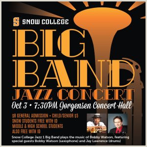 Big Band Jazz Concert presented by Snow College Performing