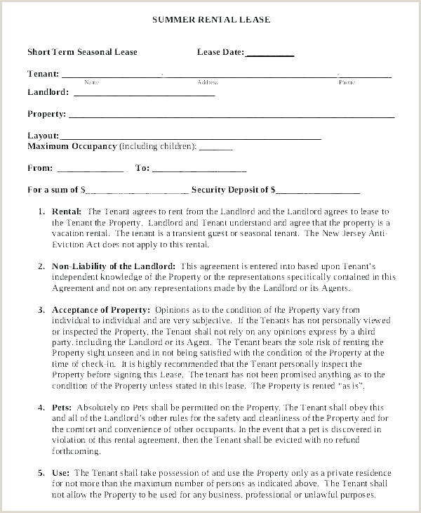 One Page Rental Application One Page Agreement Template