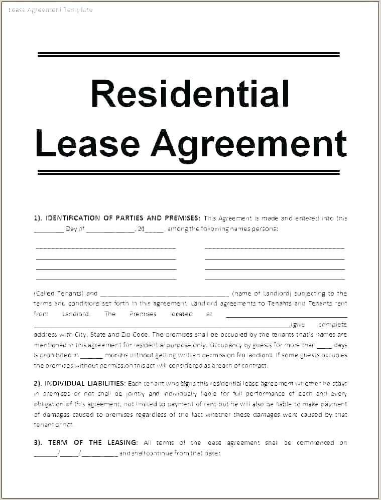 one page tenancy agreement template