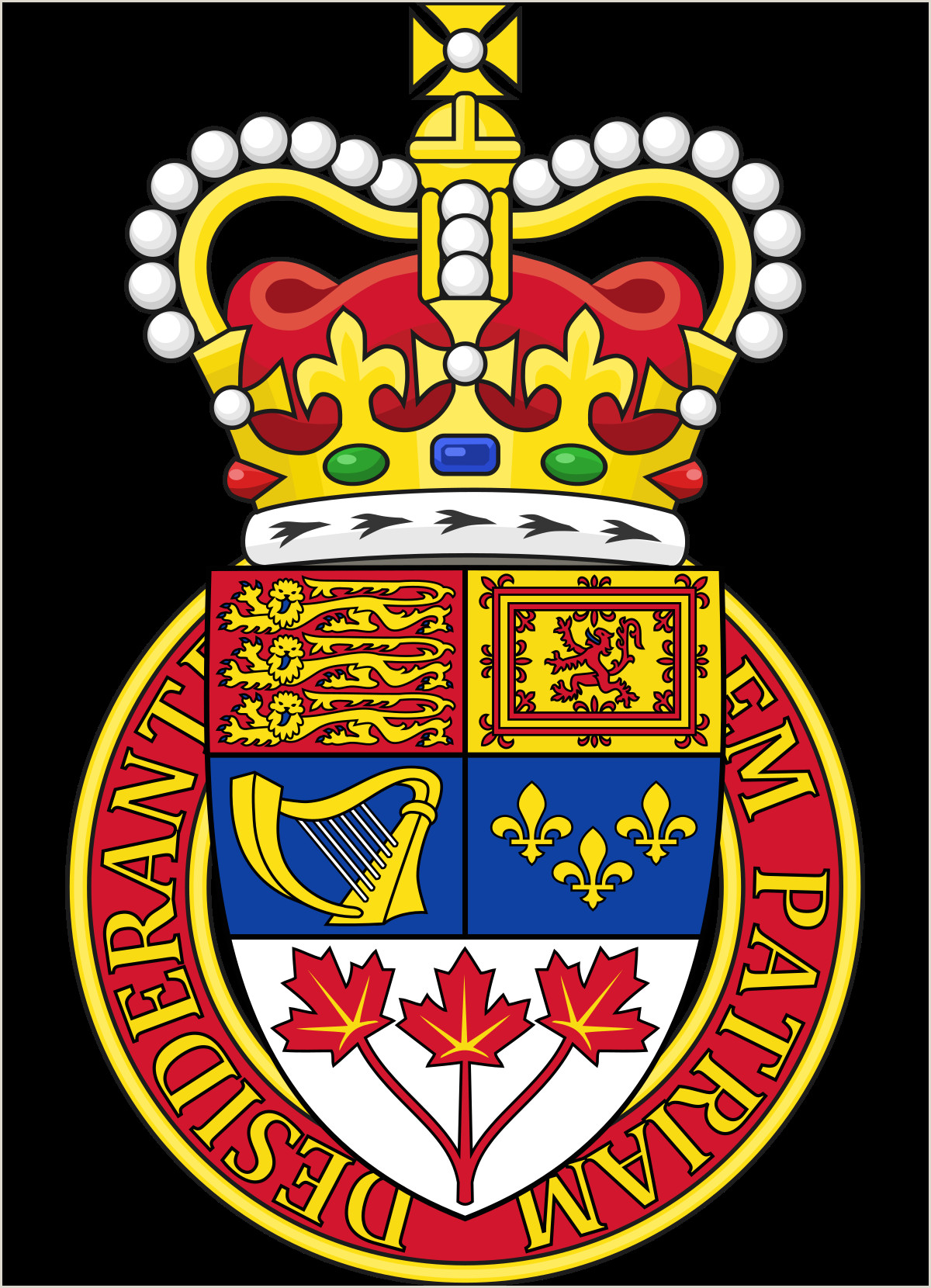 Outline Of A Crown Canadian Heraldry