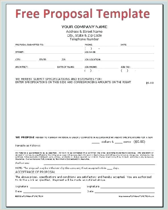 Construction Bid Proposal Template Awesome A Business