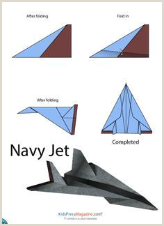 Paper Airplane Instructions – Navy Jet