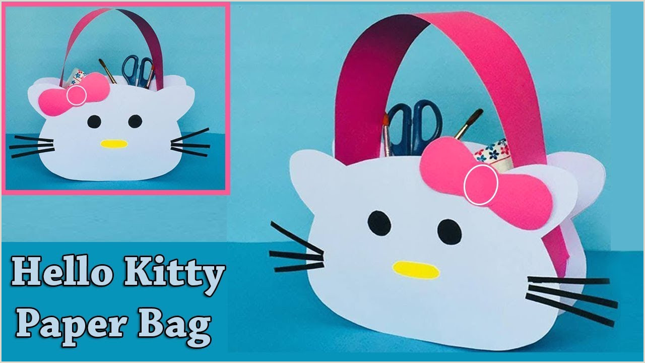 DIY Hello Kitty Paper Bag How to Make a Paper Bag