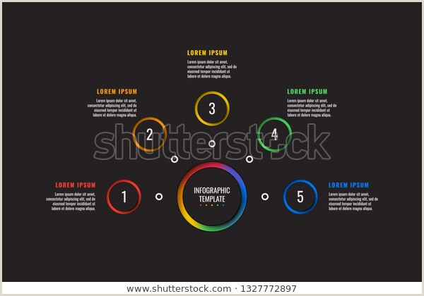 Paper Cutting Designs Template 5 Steps Infographic Template Round Paper Stock Vector