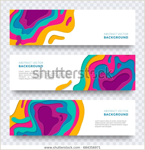 Paper Cutting Designs Template Image Vectorielle De Stock De Banner Paper Cut Design