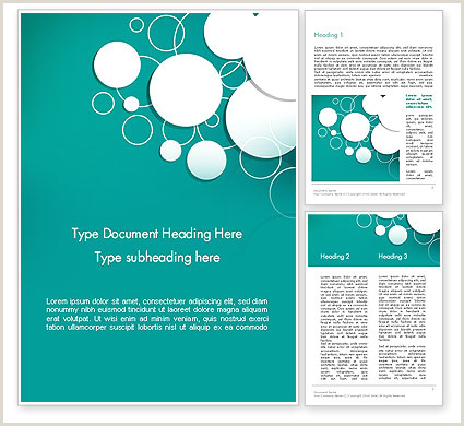 Paper Cut Circles Abstract Word Template
