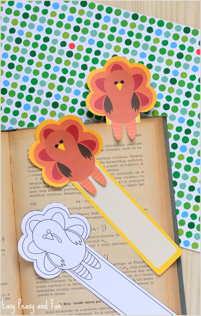 Printable Turkey Bookmarks Easy Peasy and Fun