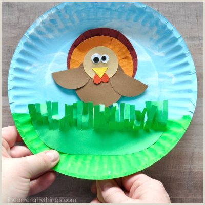 Paper Plate Turkey Craft Template Thanksgiving Archives
