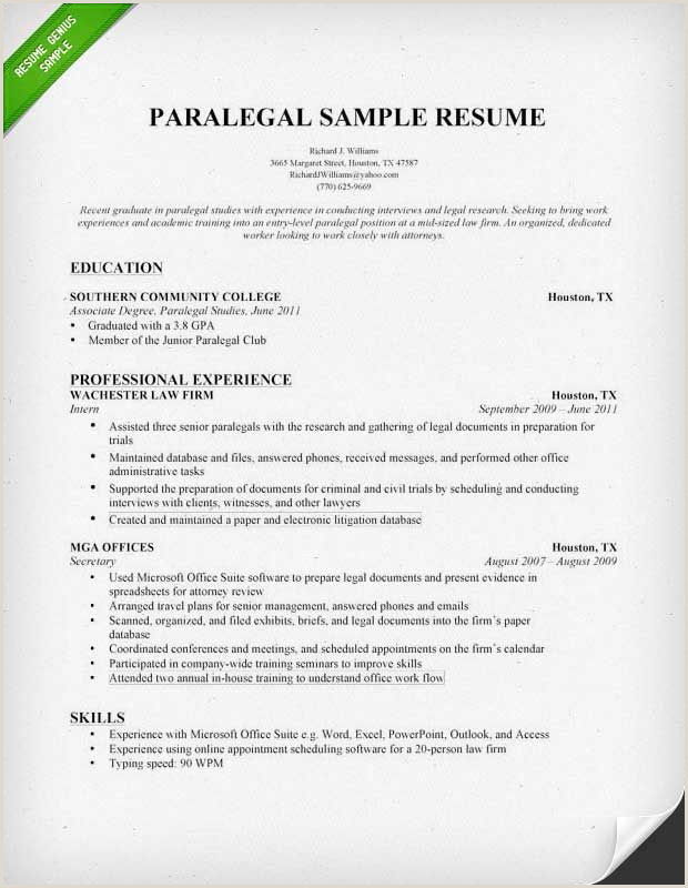 entry level paralegal resume samples Paralegal