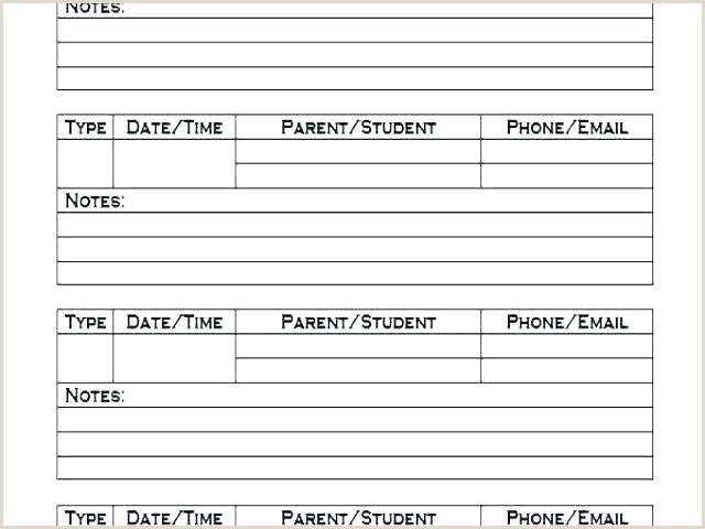 Medium To Size Parent Contact Information Sheet