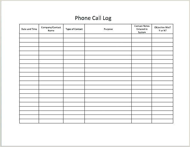Parent Contact Log Doc Sales Contact Sheet Template Excel Call Log Desktop Call