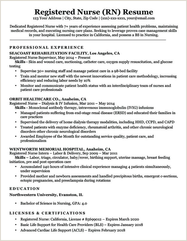example nurse resume – newskeyfo