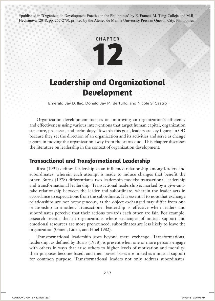 Personal Leadership Philosophy Statement Pdf Leadership and organizational Development
