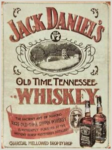 Détails sur Jack Daniel s Whisky Vintage Style Rétro Publicité Métal Signe Man Cave Abri afficher le titre d origine