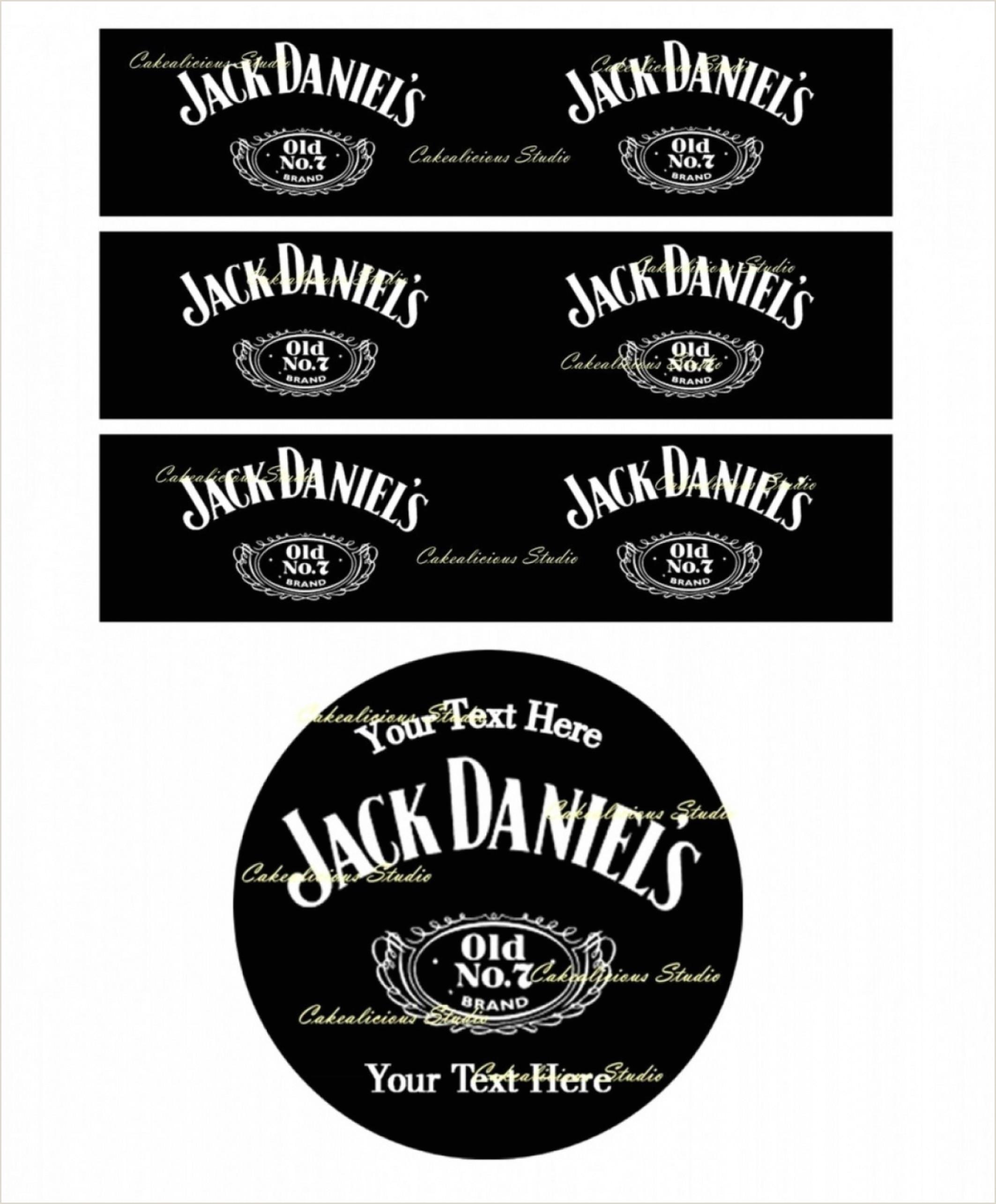 Personalized Jack Daniels Label Jack Daniels Label Template Vector