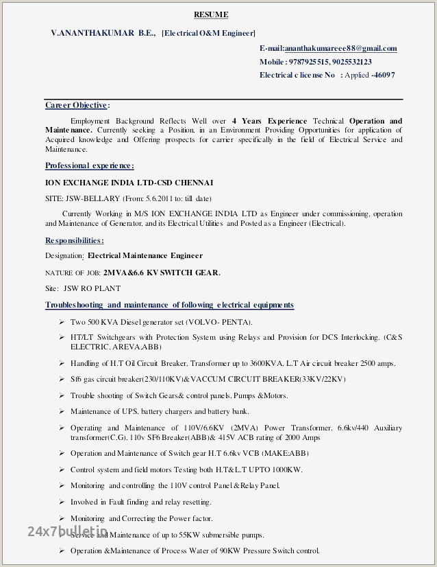 Awesome Carrier Resume
