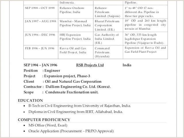 Qa Qc Civil Engineer Resume Elegant Civil Engineer Resume