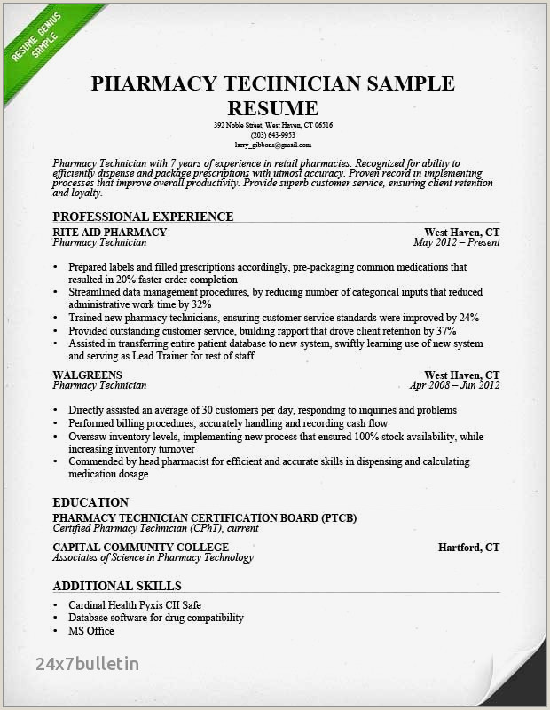 Pharmacist Resume Templates Professional Retail Pharmacist