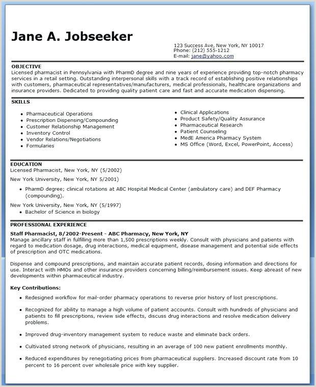 pharmacist resume template – adflight