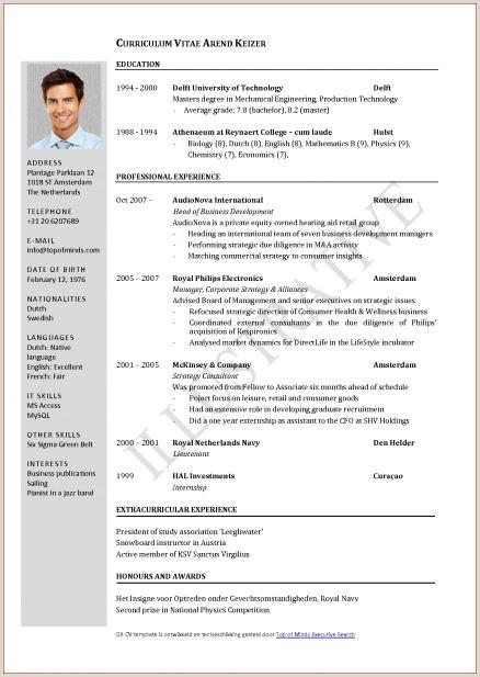 Pharmacist Resume Template Curriculum Vitae Sample Pdf File