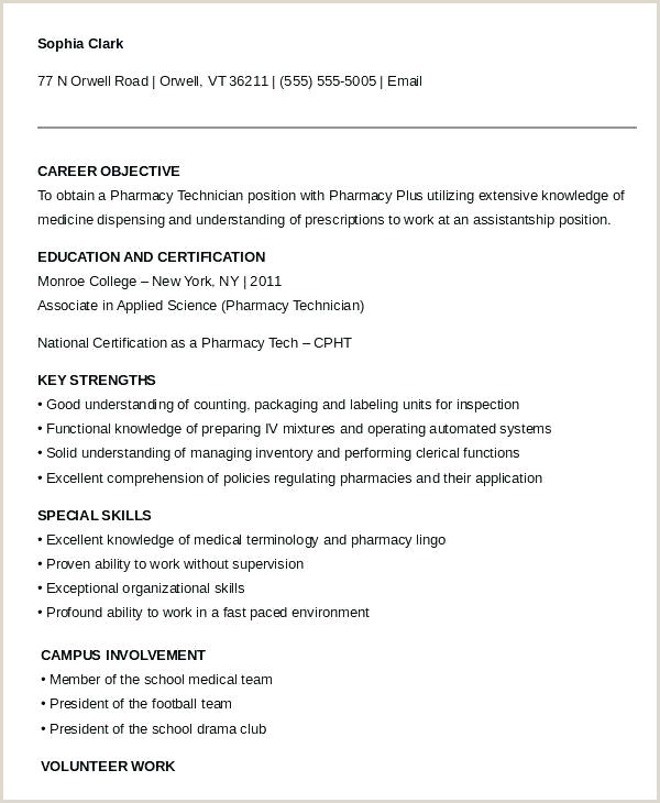Pharmacy Tech Resume Entry Level Pharmacy assistant Resume No Experience – Thrifdecorblog