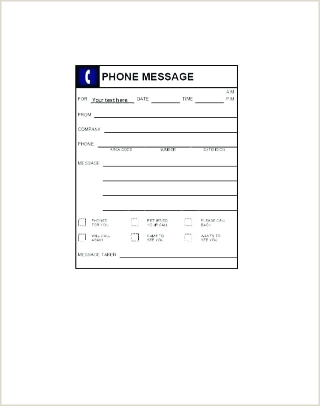 free phone message template