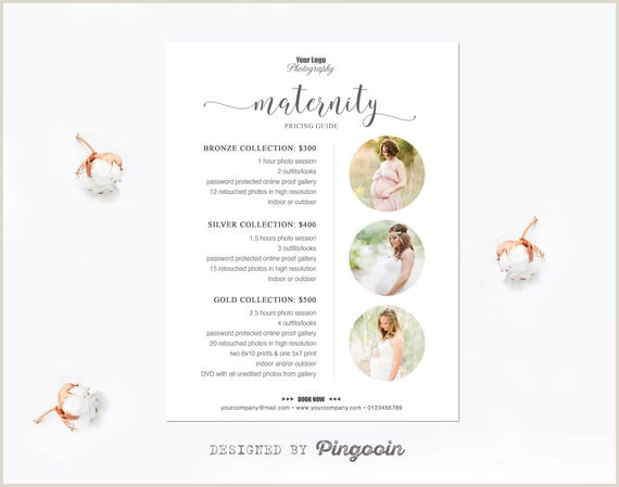 Photography Price Sheet Template Price List Template Maternity Photography Pricing Template Pricing Guide Pricing Template Marketing Template Editable Psd Files Plt32