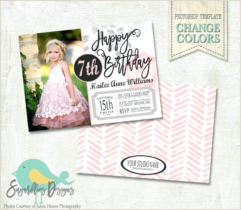 Photoshop Party Invitation Template Birthday Invitation Template Birthday Girl Image 0 1st