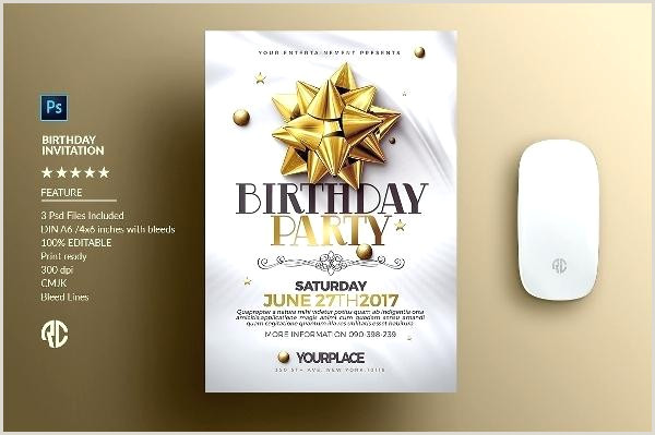 Photoshop Party Invitation Template Creative Birthday Invitation Card Templates Shop