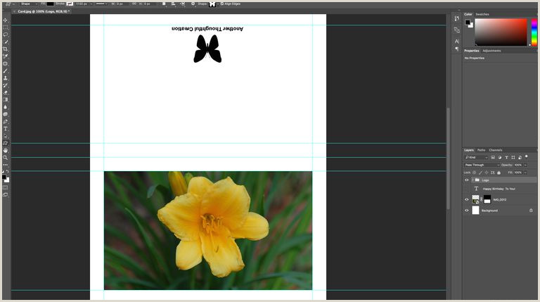 Greeting Card Template and Instructions for Adobe shop