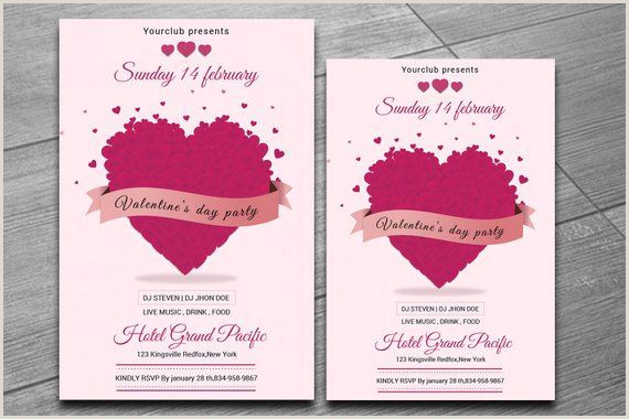 Valentines Day Party invitation Template