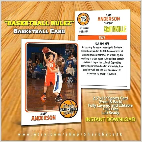 Baseball Card Template Beautiful Basketball Sports Trader