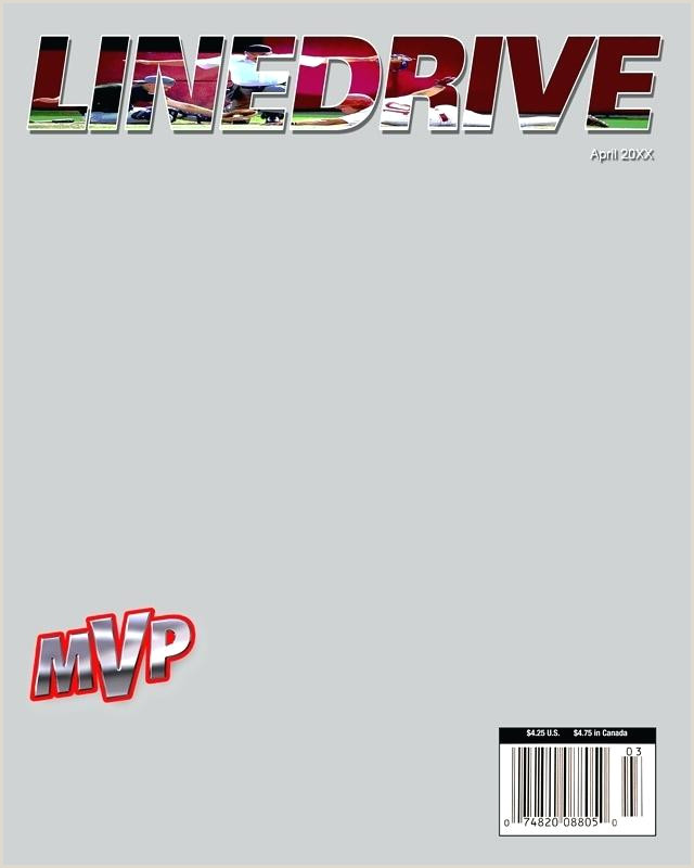 Baseball Sports Magazine Cover Template Templates shop