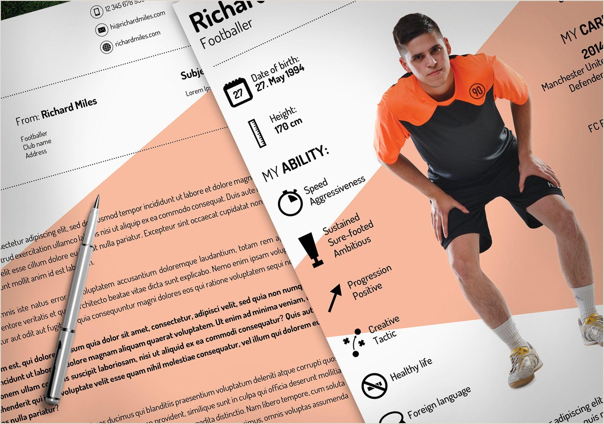 Sport Resume psd indd docx edit