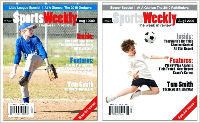 Sports Magazine Cover Template Templates Psd