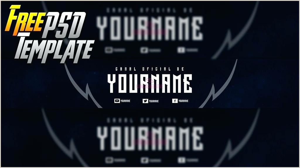 Photoshop Youtube Banner Templates Banner for Youtube Template