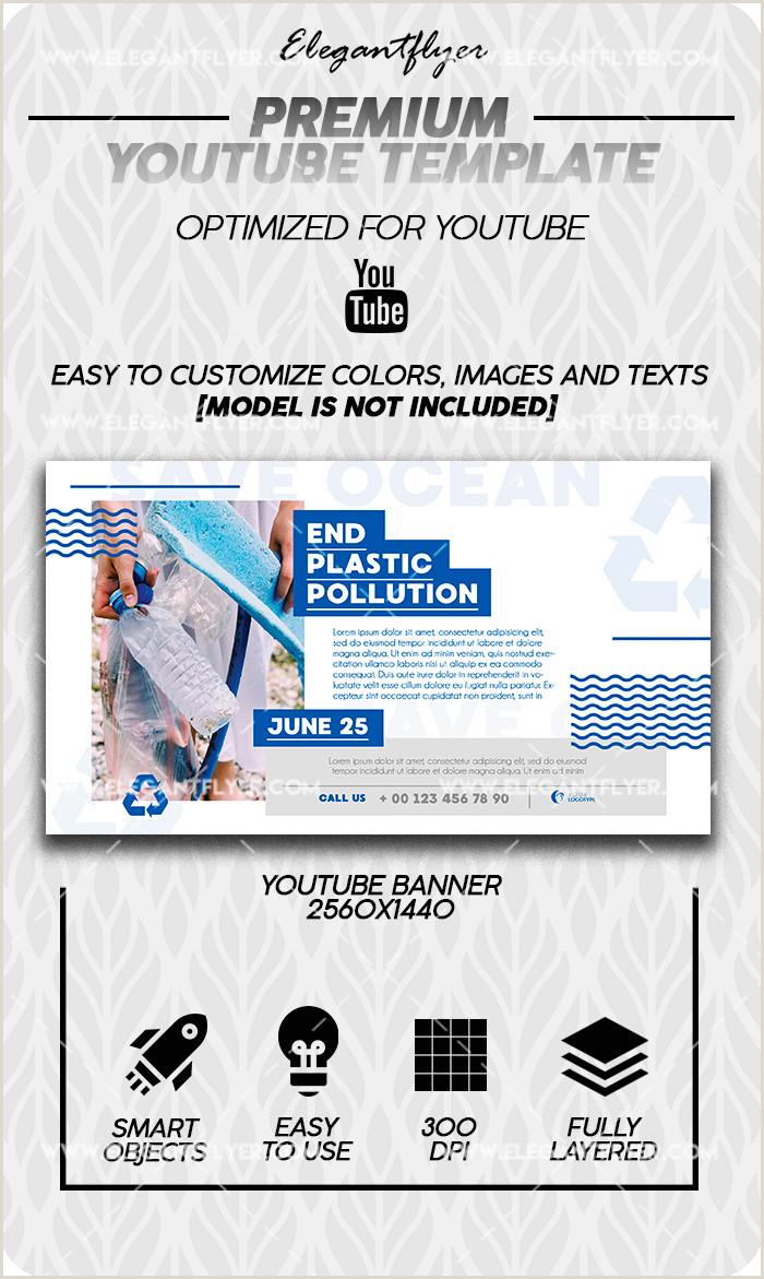 Marine Pollution Problems – Premium Youtube Channel banner PSD Template