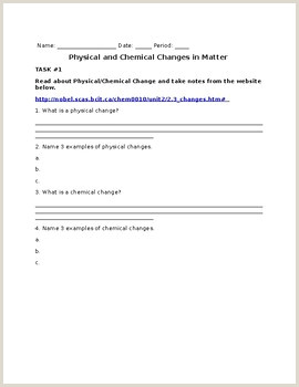 Chemical Changes In Matter Worksheets & Teaching Resources