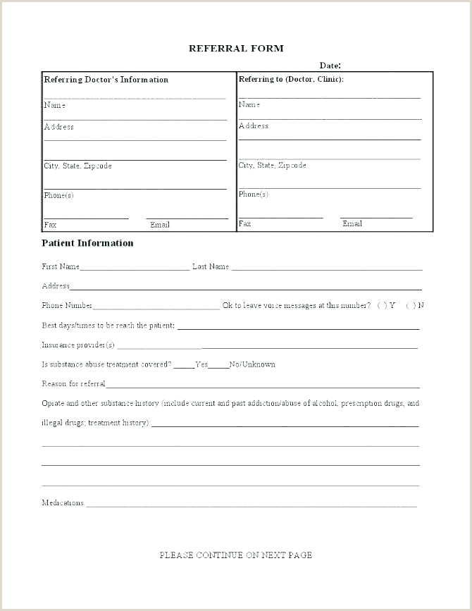 Physician Referral form Dental Referral Template Doctors Notes for Work form Word Card