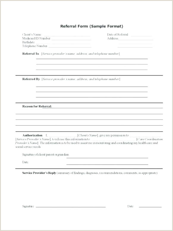 Referral Forms Template Patient Form 6 7 Customer Pdf