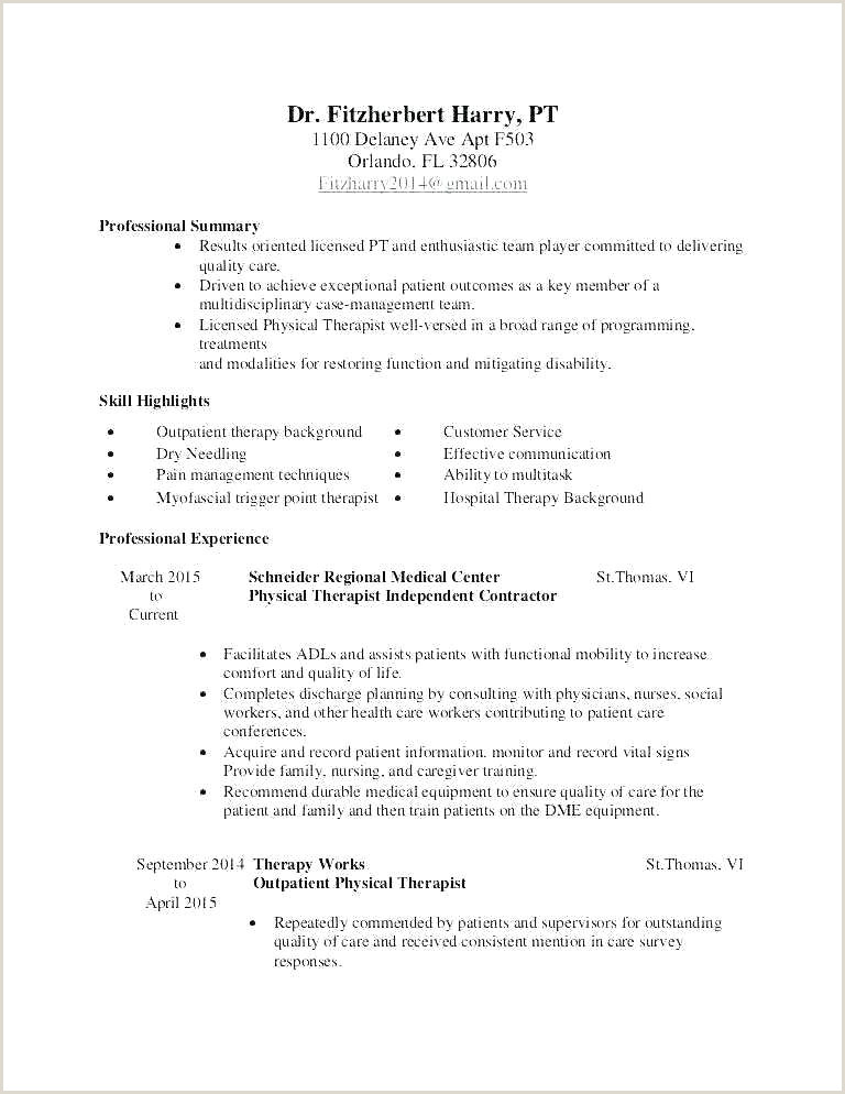 Physiotherapist Resume Sample Physical therapy Consultant Sample Resume – Podarki