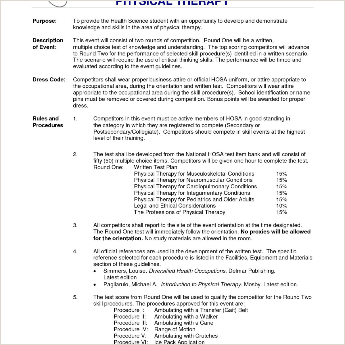 Physiotherapist Resume Sample Unique Resume format for Physiotherapist
