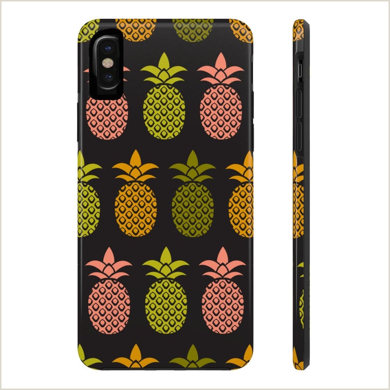 Pineapple Cut Out Template Aloha Pineapple iPhone X iPhone 7 8 Case