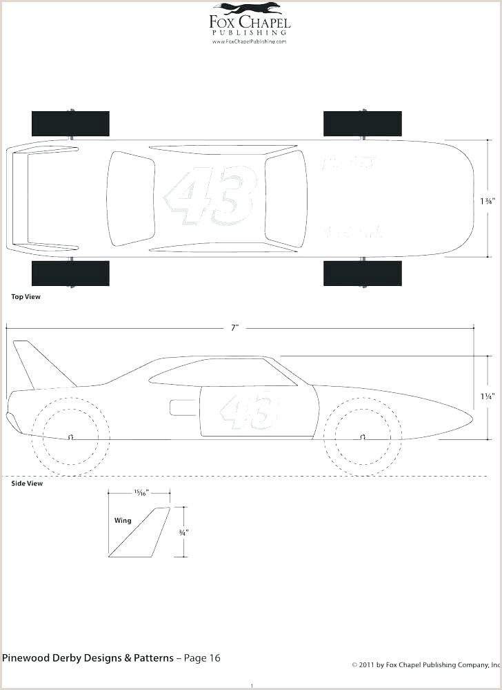 pinewood derby tank templates – tracenumberr