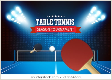Ping Pong tournament Flyer Template Imágenes Fotos De Stock Y Vectores sobre tournament Table