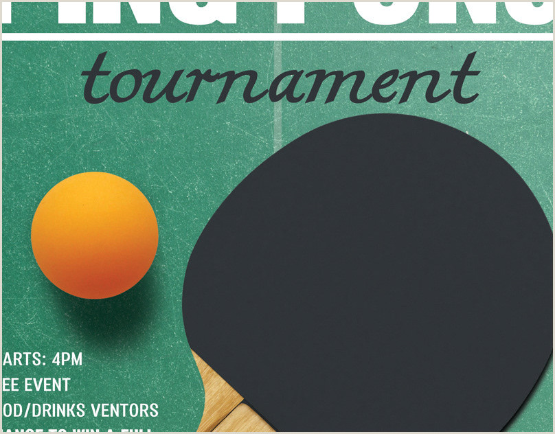 Ping Pong Tournament Flyer Template