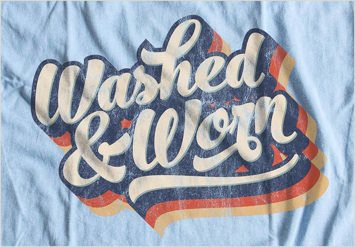 """9 Free """"Washed & Worn"""" Aged T Shirt Effect Textures"""