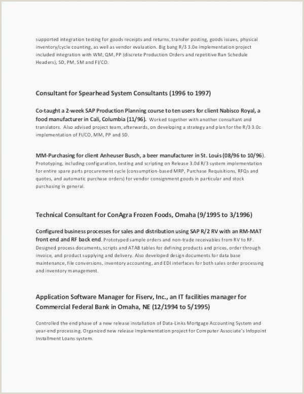 Plain Text Resume Example Sample 30 Best Cv Template Picture