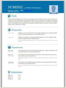 Plantilla Curriculum Vitae Listo Para Rellenar Curriculum Vitae Modelos Para Pletar Word