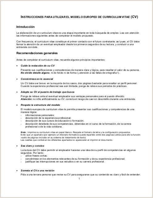 By Congress Documento De Curriculum Vitae Para Llenar